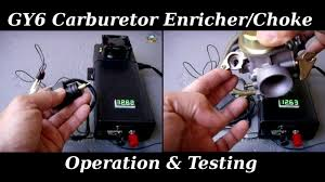 gy6 enricher automatic choke operation u0026 testing youtube