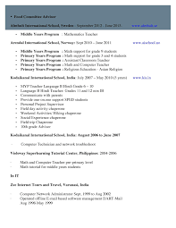 Resume For Hindi Teacher Certificates