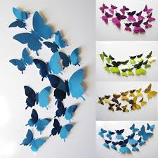 Diy Butterfly Decorations by 12pcs Lot New Arrive Mirror Sliver 3d Butterfly Wall Stickers