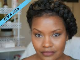 halo hair for thinning hair how to faux halo goddess braid protective style using a natural
