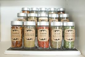 kitchen canister labels glass spice jars bulk