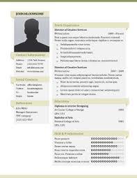 Professional Resume Design Templates Resume With Photo Template Jospar