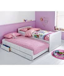 King Size Bed With Trundle Buy Frankie White Cabin And Trundle Bed With Ashley Mattress At