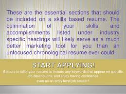Tailor Resume To Job by Why Entry Level Job Seekers Should Consider Using A Skills Based Resu U2026