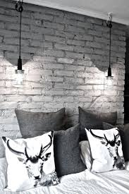 Black And White Bed Best 20 Brick Wall Bedroom Ideas On Pinterest Industrial