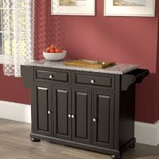 kitchen islands with granite top darby home co pottstown kitchen island with granite top reviews