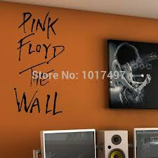 popular music stickers buy cheap music stickers lots from china pink floyd the wall art vinyl wall decal classic rock music lyrics decal sticker for