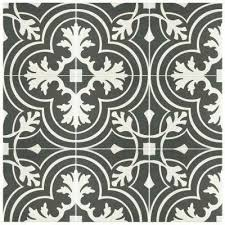 black white design how to get the look of patterned cement and encaustic tile for
