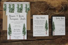 forest wedding invitations rustic tree wedding invitation woodland invitation set redwood
