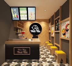 desain interior sribu booth design desain interior untuk thai tea
