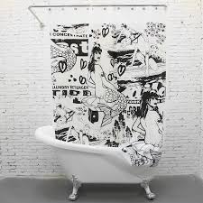 2017 painting pattern eva comic style shower curtain curtain bath painting pattern eva comic style shower curtain curtain bath screen