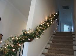 garlands with lights for stairs happy holidays garland