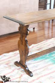 Cottage Sofa Table Black Sofa Table Makeover The Wood Grain Cottage