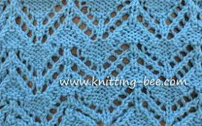 zig zag knitting stitch pattern zig zag eyelet free knitting stitch http www knitting bee com