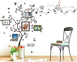 amazon com bogzon kiss birds trees hearts leaves black photo amazon com bogzon kiss birds trees hearts leaves black photo picture frame decal removable wall decals large wall stickers love quotes decorative painting