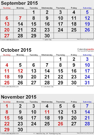 november 2015 calendars for word excel pdf