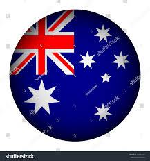 Pictures Of The Australian Flag Australia Flag Button On White Background Stock Vector 180543563