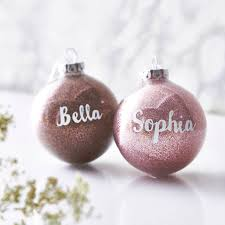 personalised glitter bauble by