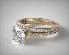 Gold Diamond Wedding Rings by