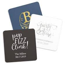 personalized paper coasters square the knot shop