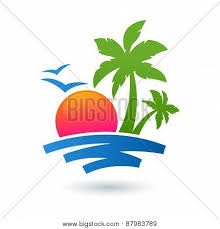 summer beach illustration vector u0026 photo bigstock
