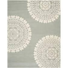 safavieh bella grey ivory 7 ft x 7 ft round area rug bel121a 7r