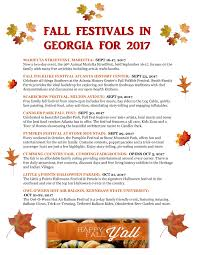 fall festivals in georgia 2017