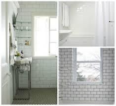 bathroom subway tile dark grout home design ideas