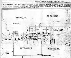 Sheridan Wyoming Map File Absaroka Map From Contemporary Newspaper Jpg Wikimedia Commons