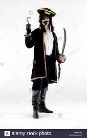 Captain Hook Halloween Costume Man Dressed Fancy Dress Comedy Costume Captain Hook