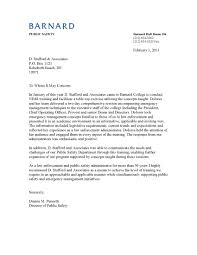 cover letter law firm associate about clery act training u0026 campus safety d stafford