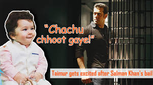 What A Twist Meme - taimur s reaction on bhai s bail salman khan gets bail twitter