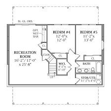 house plan with basement lakeview 2804 3 bedrooms and 2 baths the house designers