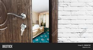 Open Locked Bedroom Door Half Opened Door Bedroom Door Image U0026 Photo Bigstock