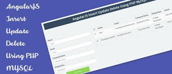 design form using php angularjs insert update delete using php mysql