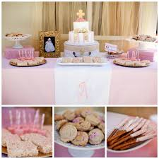Cake Table Decorations by Baptism Ideas Baptism Pink Gold Pink U0026 Gold Baptism