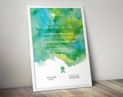 watercolor corporate certificate template by almirah graphicriver