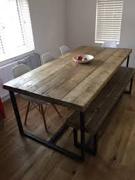 concrete and wood dining table metal and wood dining table best 25 ideas on pinterest made to