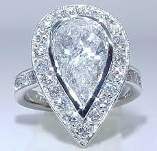 large diamond rings big diamond indescribable 4 07 carat pear shaped pave antique
