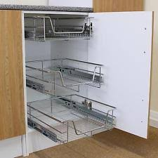 Pull Out Kitchen Shelves by Kitchen Pull Out Storage Ebay