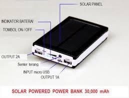 cara membuat powerbank dengan panel surya bank solar cell panel surya 30 000mah