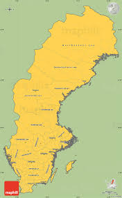 Map Sweden Savanna Style Simple Map Of Sweden Cropped Outside