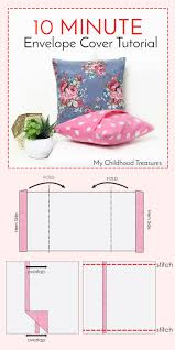 Storage Bags For Garden Cushions by How To Make Cushion Covers Envelope Covers In 10 Minutes