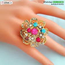 big finger rings images Beautiful big flower finger ring uclick pk jpg