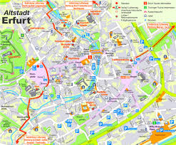 Weimar Germany Map by Erfurt City Center Map