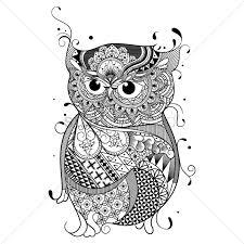 intricate owl design vector image 1544311 stockunlimited
