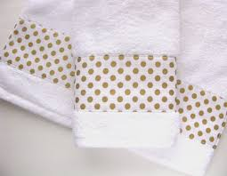Pink And Gold Bathroom gold and white towels hand towels bath towels custom