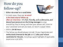 follow up on an interview u0026 not hearing from a recruiter ppt