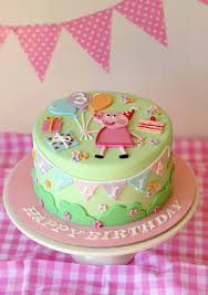 peppa pig cake ideas butter hearts sugar pastel peppa pig cake