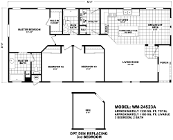 3 br manufactured home with great room and island kitchen